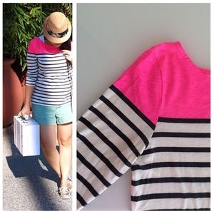 Jcrew stripe color block top