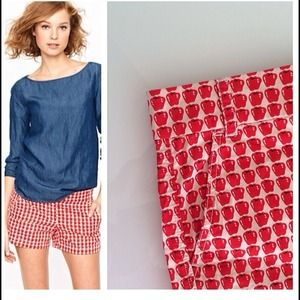 J. Crew Pants - Jcrew apple printed shorts