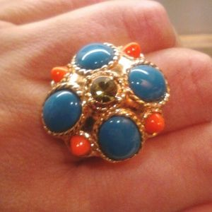 NEW J Crew Cabochon Statement Ring - Size 8