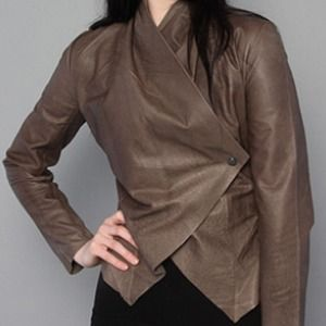 BB Dakota Asymmetrical Leather Jacket!