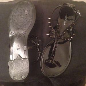 77ab1536ceb Steve Madden Shoes - Steve Madden JelyBely Black Sandals