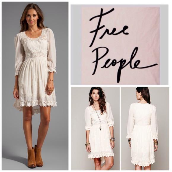 3ca718d36841d Free People French Vanilla Montana Dress. NWT.