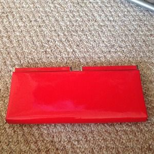 Vintage inspired red clutch