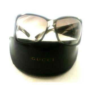 Gucci Oversized Brown tortachell sunglasses