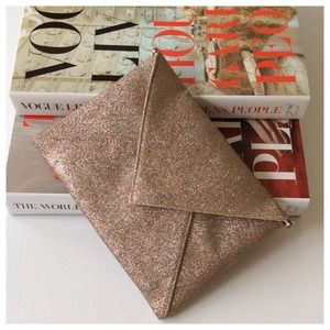 Clutches & Wallets - Glitter envelope clutch