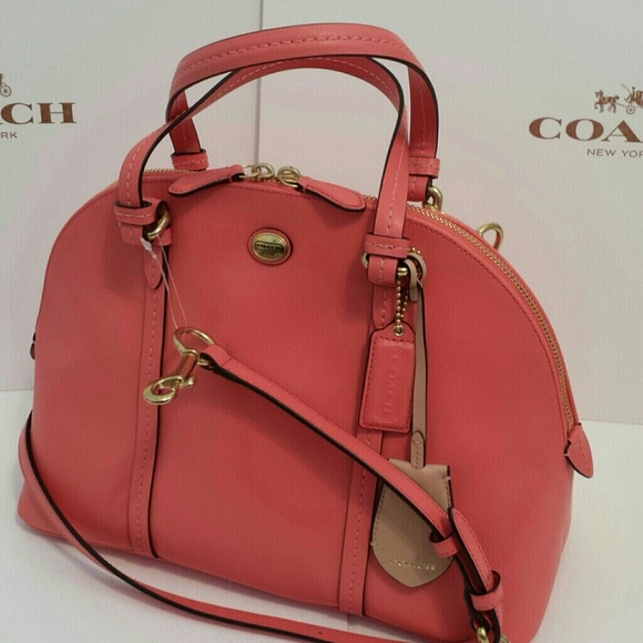 Coach Handbags - PM EDITOR PICK SALE Coach coral leather satchel