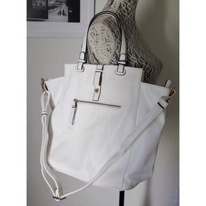White Emperia Tote Bag
