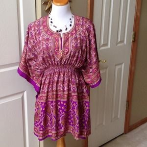 Purple/Pink/yellow/White Tunic