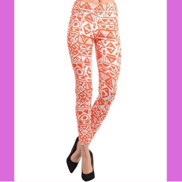 🔹$5 SALE! Orange & White Printed Leggings S, M, L from Jessica's ...