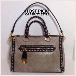 Prada Handbags - Prada Glacé Studded Satchel - RARE!