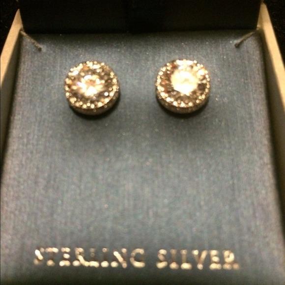 contessa di capri round diamond silver studs from oksana
