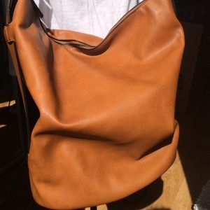 Tan Zara shoulder bucket bag