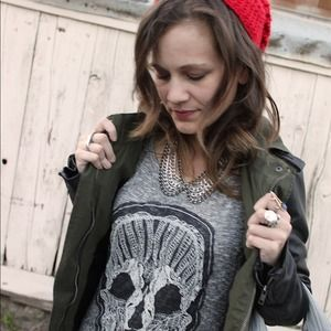 Charlotte Russe Sweaters - Embroidered Skull Sweater