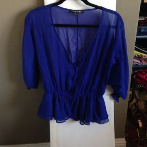 Royal blue top