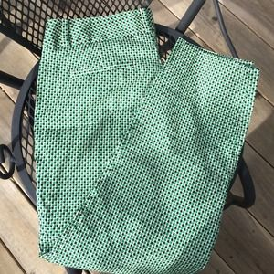 Banana Republic green print ankle pants