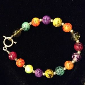 Beautiful colorful beaded bracelet