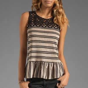 Free People peplum tank top!
