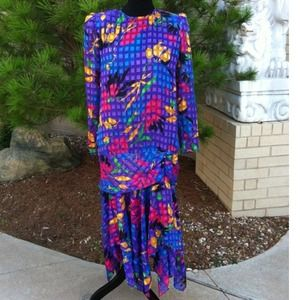 Vintage Vibrant Dropped Waisted Disco Beauty