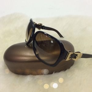 Gucci Accessories - Gucci Sunglasses w/ Gold Buckle Hardware