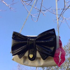 "Betsey Johnson tiny ""bow"" bag"