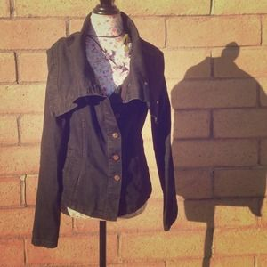 Black denim All Saints jacket