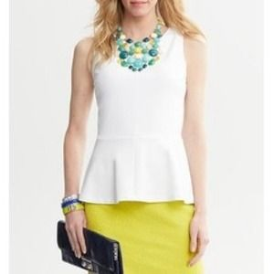 Banana Republic Tops - Sleeveless peplum top