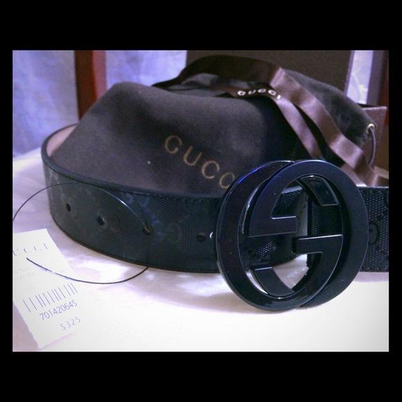 63ff2da4d6a Authentic Black Gucci Imprime Gucci belt 95cm