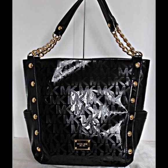 9b509629a132 Michael Kors Bags | Reserved Delancy Black Shoulder Purse | Poshmark