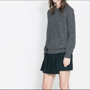 Zara plaid pleated skort