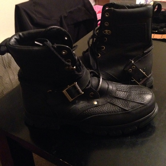 31% off Ralph Lauren Boots - Beautiful black Polo high Top boots ...