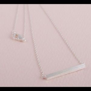 Hannah Beury Jewelry - Silver Bar Necklace