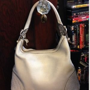 "Gucci ""Signoria"" Cream Leather Hobo Bag Medium"