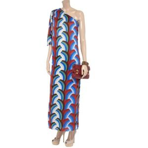 T-Bags Los Angeles Dresses & Skirts - T Bags Draped Printed Jersey Maxi