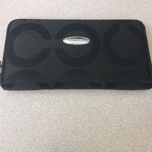 Coach black large wallet