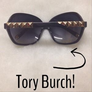 💯 Authentic Tory Burch Gold Studded Sunglasses!