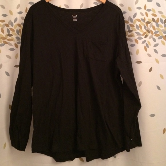 fd0c230af16b17 a.n.a Tops | Like New Womens 1x Ana Black Top From Jcpenney | Poshmark