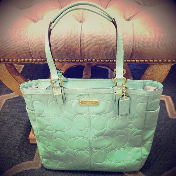 3b164e5e7a Coach Handbags - 💕Coach Set Mint Green Coach Handbag Bag   Wallet