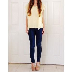 Yellow flowy top