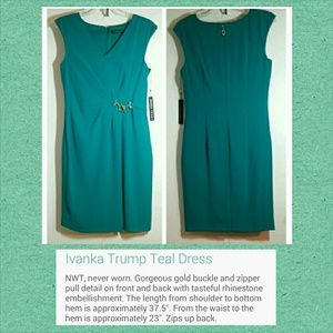 Ivanka Trump Teal Dress
