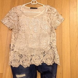 Zara Tops - Lace Zara blouse