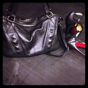 Black Leather Andrew Marc Bag