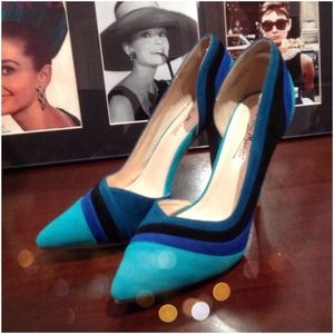 AnneMichelle Shoes - Color Block Pumps