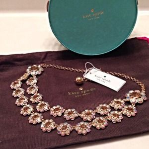 Kate Spade Crystal Trellis Necklace