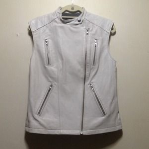 Monika Chiang White Leather Vest