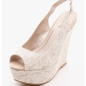 Sweetheart Floral Lace Wedge