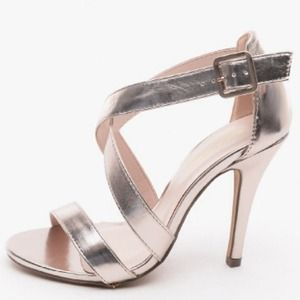 Shoes - Rose Gold Strappy Heels