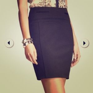Express black career skirt. Studio stretch.