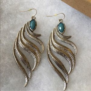 Western  Feather earrings
