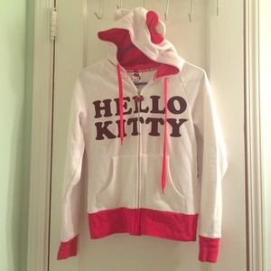 Hello kitty hoodie with zipper