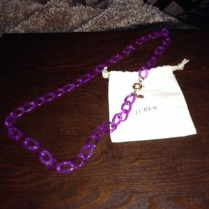 J.Crew Factory Chain link Necklace in Purple